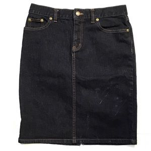 Lauren Ralph Lauren Knee-Length Denim Skirt